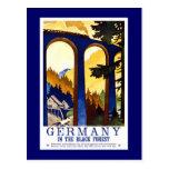 """""""Germany's Black Forest"""" Vintage Travel Poster Postcard"""