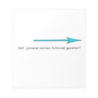 gernan-blacksnith notepad