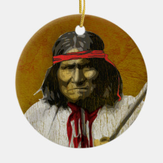 Geronimo Ceramic Ornament