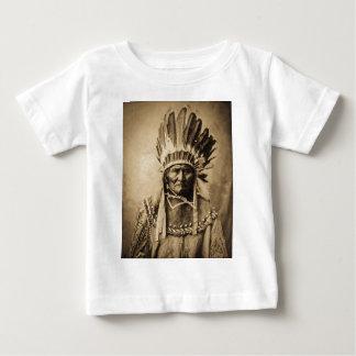 Geronimo in Head Dress Vintage Portrait Sepia
