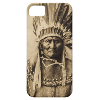 Geronimo in Head Dress Vintage Portrait Sepia iPhone 5 Case