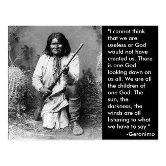 Geronimo Postcard