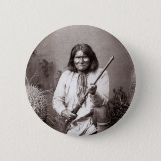 Geronimo - Vintage 2 Inch Round Button