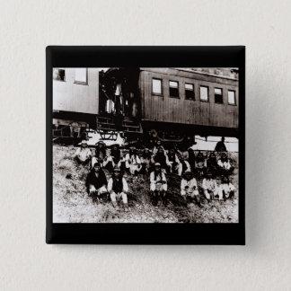 Geronimo's Band 2 Inch Square Button