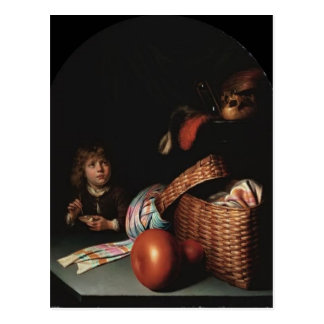 Gerrit Dou- Still Life, Boy Blowing Soap bubbles Postcard