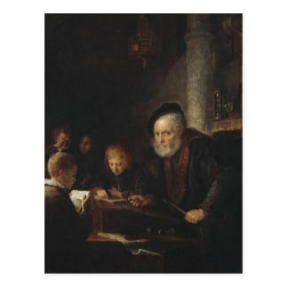 Gerrit Dou- The Teacher Postcard