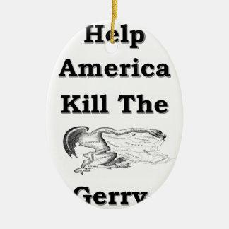 gerry ceramic oval ornament