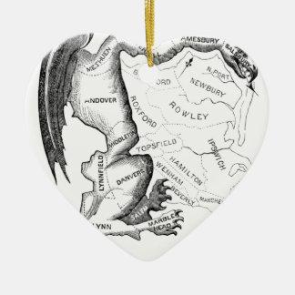 Gerry-Mander Ceramic Heart Ornament