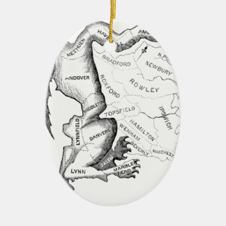 Gerry-Mander Ceramic Oval Ornament
