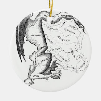 Gerry-Mander Round Ceramic Ornament