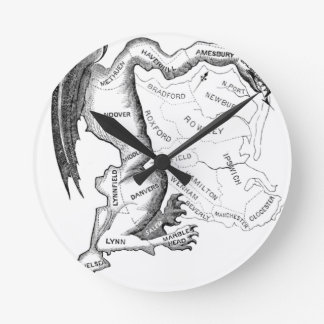 Gerry-Mander Round Clock
