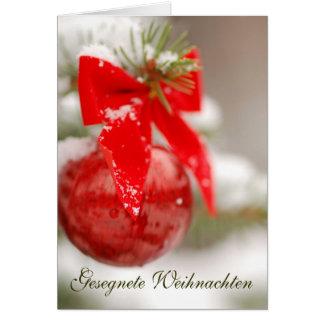 Gesegnete Weihnachten Ornament Card