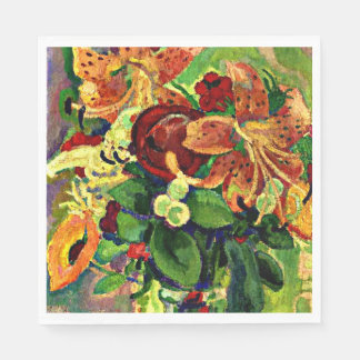 Gestel - Still Life with Tiger Lilies Disposable Napkin