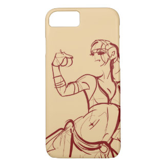 Gesture sketch drawing  tribal fusion bellydancer Case-Mate iPhone case