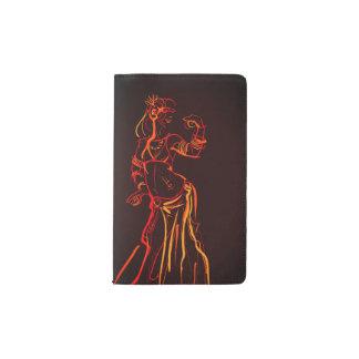 Gesture sketch drawing  tribal fusion bellydancer pocket moleskine notebook
