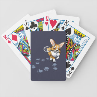 """Get a Clue"" Corgi Bicycle Playing Cards"
