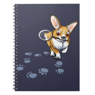 """Get a Clue"" Corgi Notebooks"