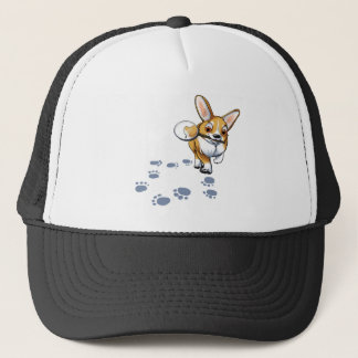 """Get a Clue"" Corgi Trucker Hat"