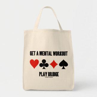 Get A Mental Workout Play Bridge (Four Card Suits) Bags