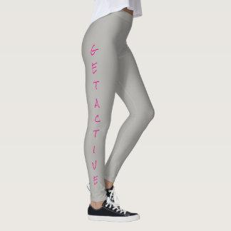 """""""GET ACTIVE/STAY ACTIVE"""" Women's Leggings"""