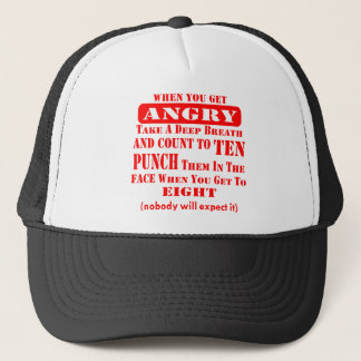 Get Angry Punch Them In The Face On #8 Trucker Hat