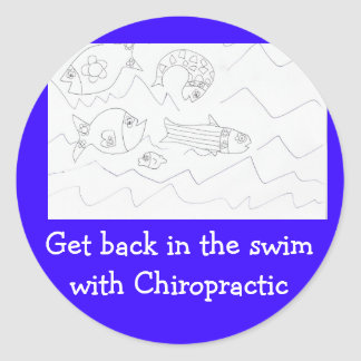 Get back in swim Chiropractor sticker