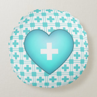 Get Better round Heart Pillow