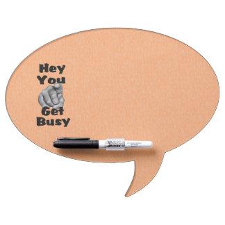 Get Busy Fun Orange Dry Erase Board Bubble