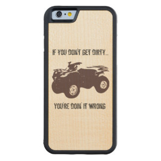 Get Dirty Wood Phone Case