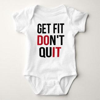 Get Fit Don't Quit - DO IT Baby Bodysuit