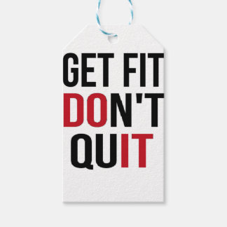 Get Fit Don't Quit - DO IT Pack Of Gift Tags