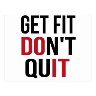 Get Fit Don't Quit - DO IT Postcard