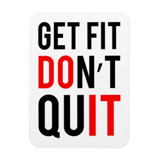 Get Fit Don't Quit Magnet