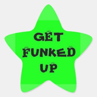 Get Funked Up Star Sticker