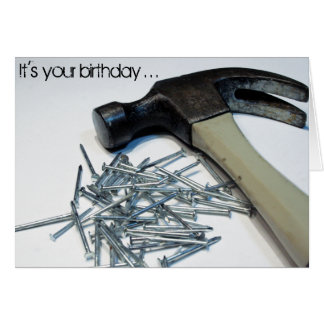 Get Hammered birthday card