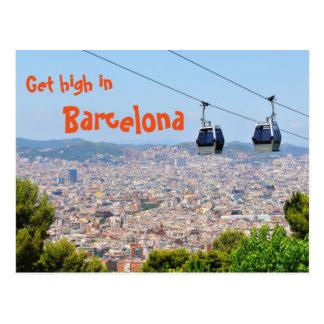 Get high in Barcelona postcard
