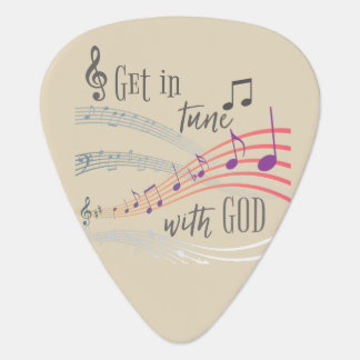 Get in Tune with God Guitar Pick
