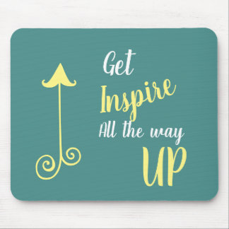 get inspired mouse pad