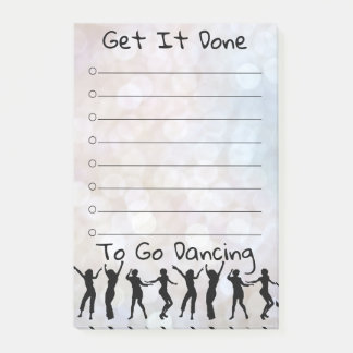 Get It Done Disco Dancing Post-It Notes