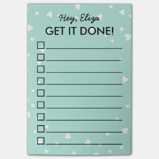 Get It Done Tiny Hearts To Do List | Custom Name Post-it® Notes