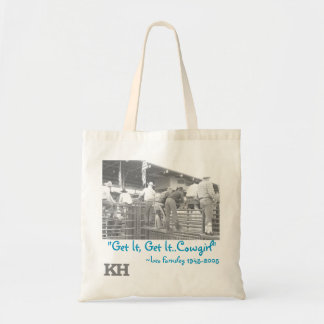 Get It Get It Cowgirl Rodeo Tote Budget Tote Bag