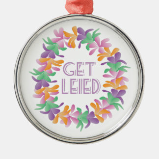 Get Leied Silver-Colored Round Ornament