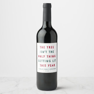 Get Lit | Funny Personalized Christmas Wine Label