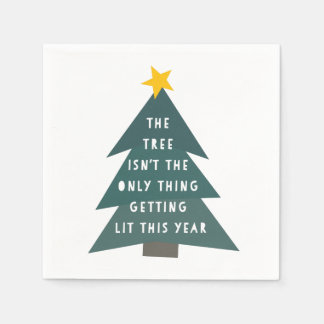 Get Lit | Holiday Napkin