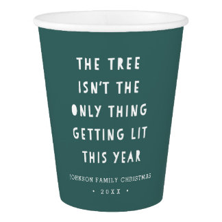 Get Lit | Personalized Christmas Party Paper Cup