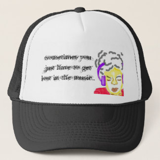 Get lost in the Music Trucker Hat