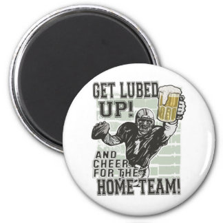 Get Lubed Up Football 2 Inch Round Magnet