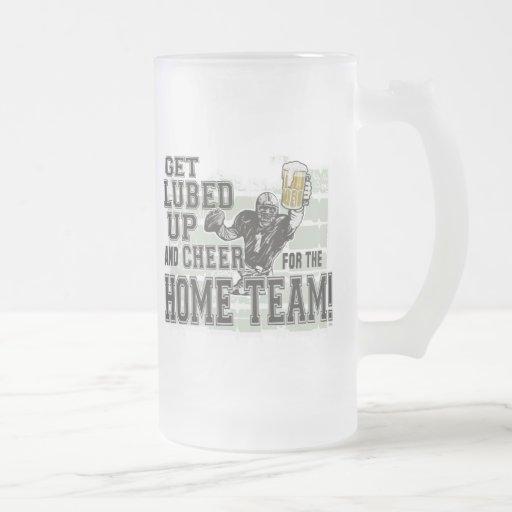 Get Lubed Up Football Mug