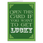 Get Lucky - Funny St. Patrick's Day Card