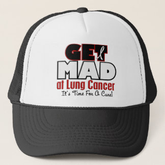 Get Mad At Lung Cancer Trucker Hat